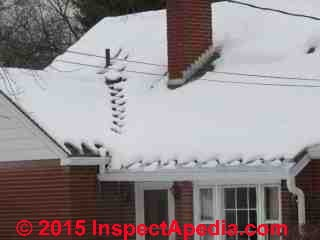 De-Icing Heat tapes installed on a roof edge, Poughkeepsie NY (C) Daniel Friedman