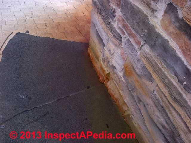 Red Roof Stains Traced To Chimney (C) InspectApedia ...