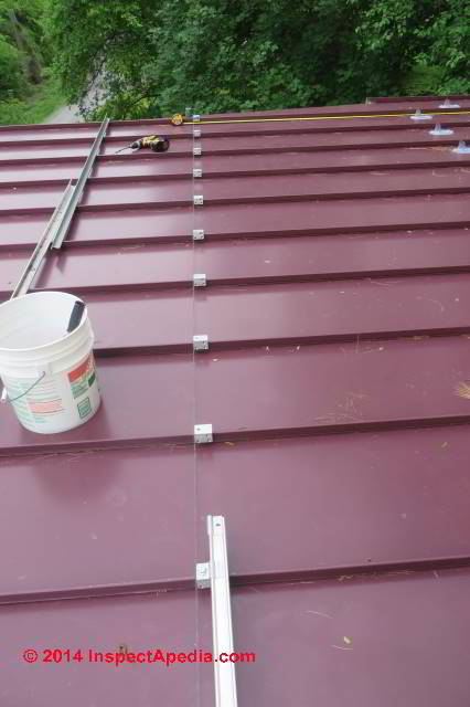 ... S!5 Snow Guard Clamp Installation On A Standing Seam Metal Roof (C)