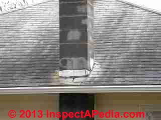 White area around chimney is not a roof stain (C) Daniel Friedman