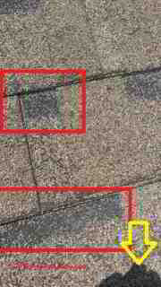 Identify shingle hail damage (C) InspectApedia NY