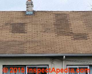 Asphalt Shingles Nailed In A Ladder Pattern Shingle