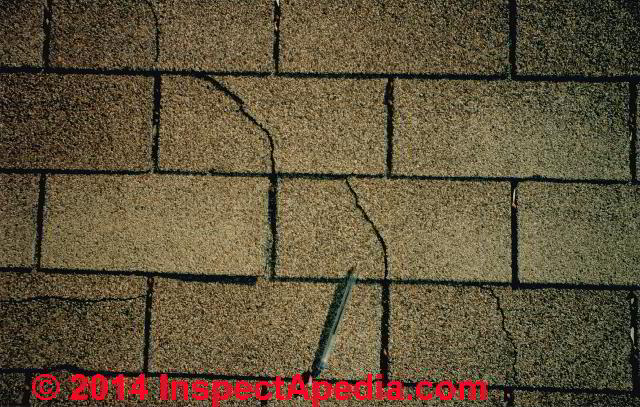 Asphalt Shingle Laddering Wear Amp Failure Types