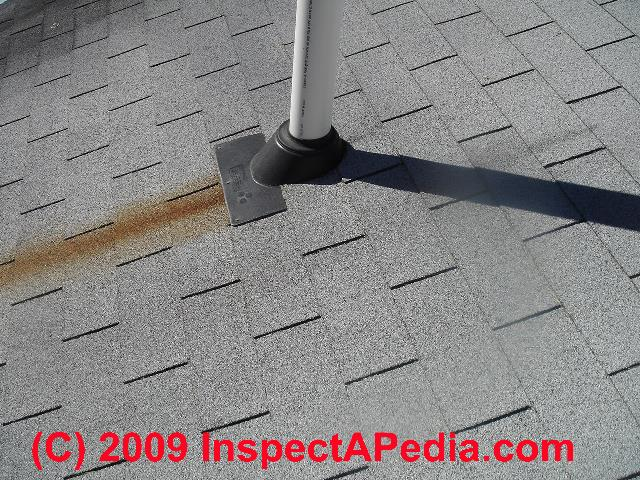 Red Or Brown Rust Stains On Building Roofs Amp Chimneys