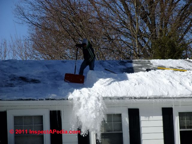 Roof maintenance winter cold weather roof problems for Roof leaking in winter