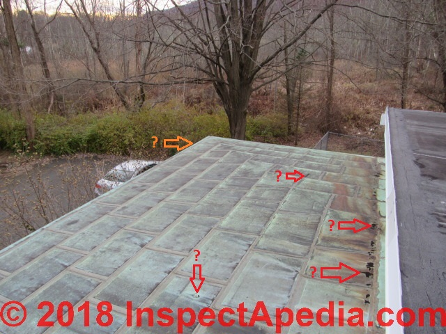 Copper Shingle Roof Types Inspection Sources Copper Single Roof Inspection Repair