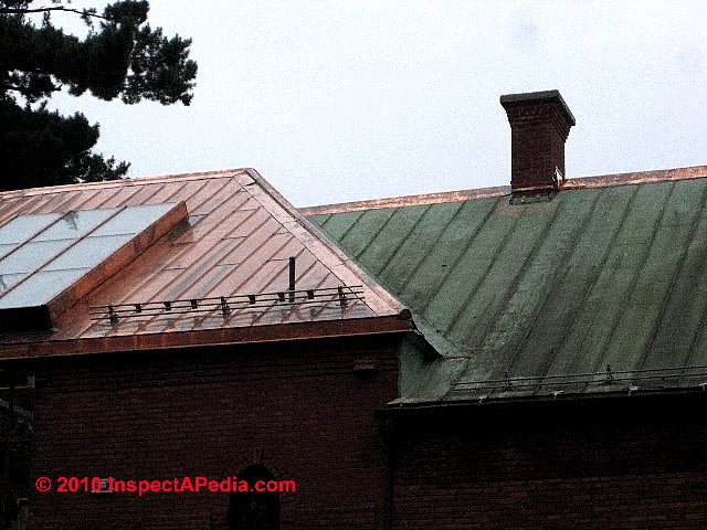 Copper Roof Standing Seam (C) Daniel Friedman