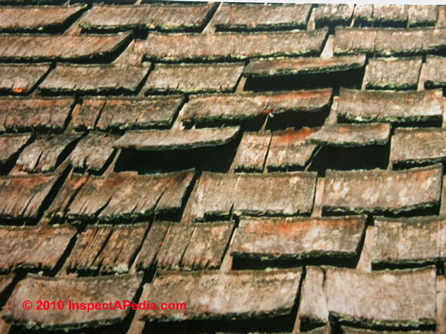 Wood Shingle Roof Past End Of Life (C) D Friedman