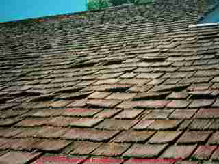 Photograph Of A Fragile Wood Shingle Roof   Stay Off.