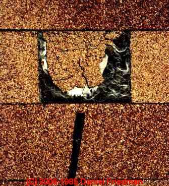 Asphalt Roof Shingle Splices As A Roof Defect How