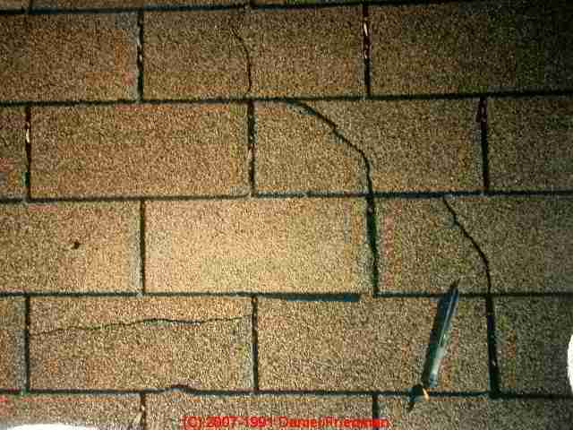 Thermal Splitting Or Cracking Asphalt Roof Shingles