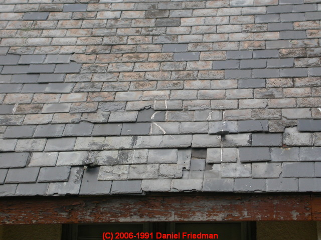 Slate Roof Life Worn Out Slate Roof Signs Of A Slate Roof