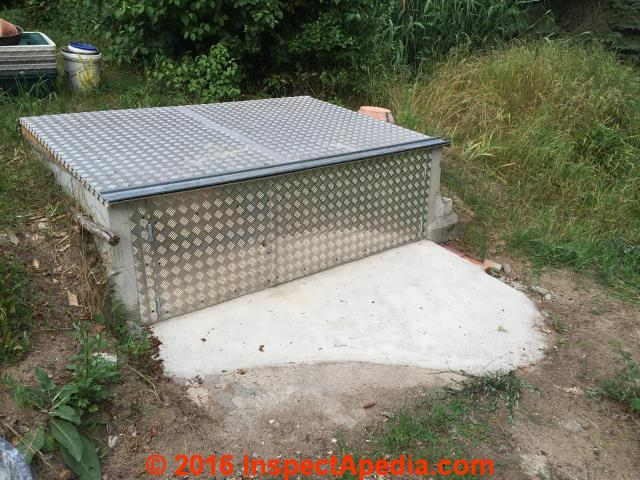 Concrete septic tank condition how to inspect concrete for Build a septic tank