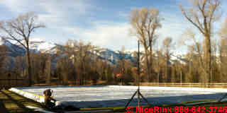 Ice rink design outdoors by NiceRink, (C) NiceRink 2013 used with permission