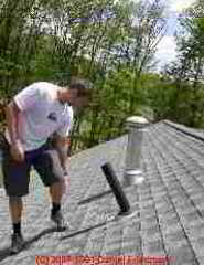 Roof inspection of plumbing vent (C) Daniel Friedman