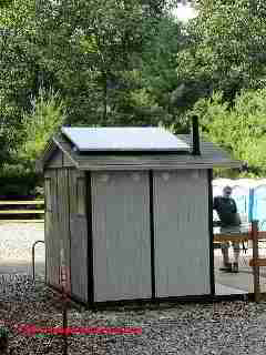 Solar powered outhouse vent, Poughkeepsie NY (C) D Friedman