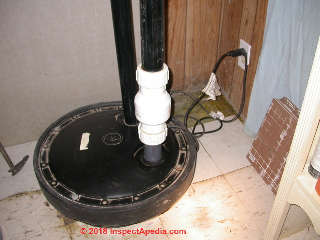 Typical home sewage grinder pump