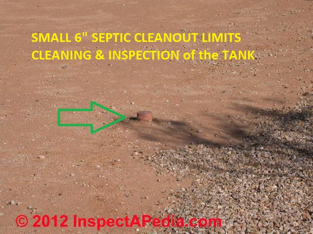Septic Tank interior inspection after pumpout