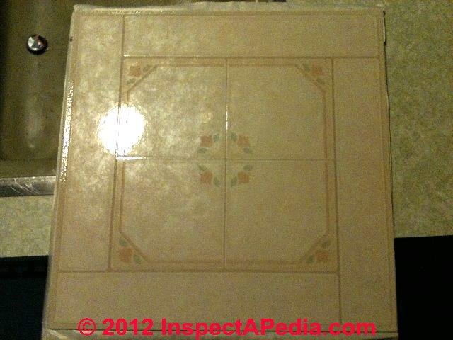 Bathroom Tiles Asbestos how to identify asbestos floor tiles or asbestos-containing sheet