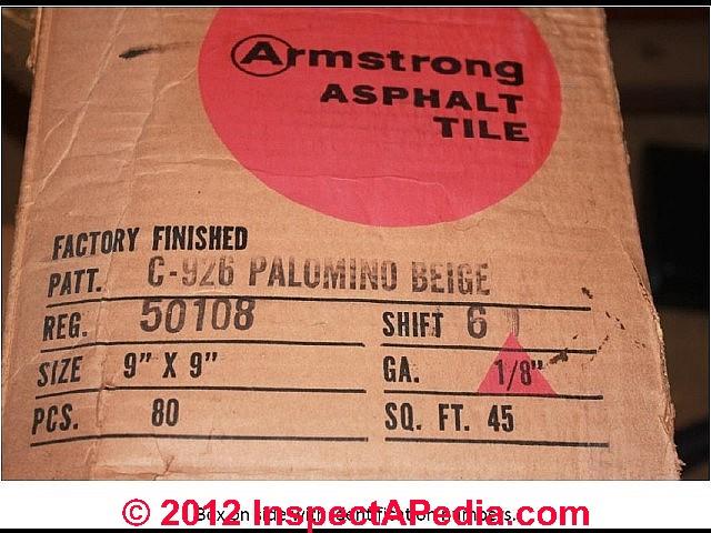 armstrong floor tiles & sheet identification photos 1951-1959