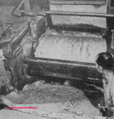 Asbestos manufacturing process - Rosato © D Friedman at InspectApedia.com
