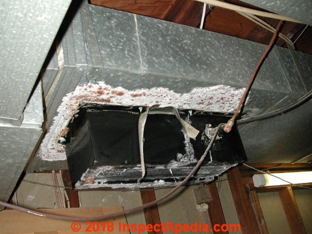 Central Humidifier Leaks And Corrosion In Ductwork (C) Daniel Friedman