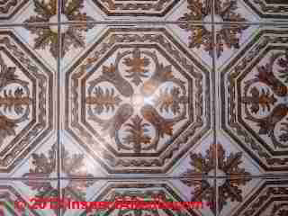 Unidentified floor tile possibly Armstrong 1960's (C) InspectApedia