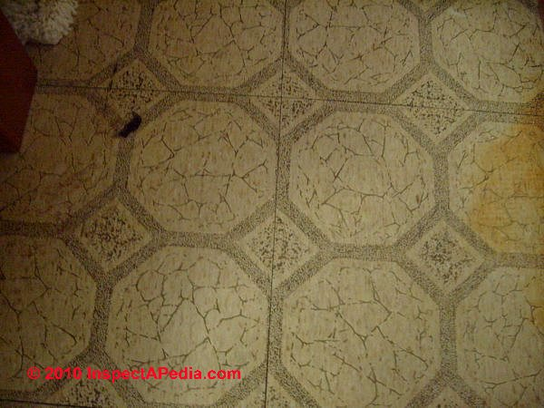 How To Identify Asbestos Floor Tiles Or Asbestos containing Sheet Flooring Visual