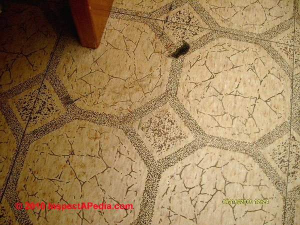 How to identify asbestos floor tiles