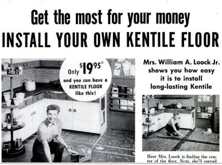 Kentile flooring advertisement Popular Science 1954