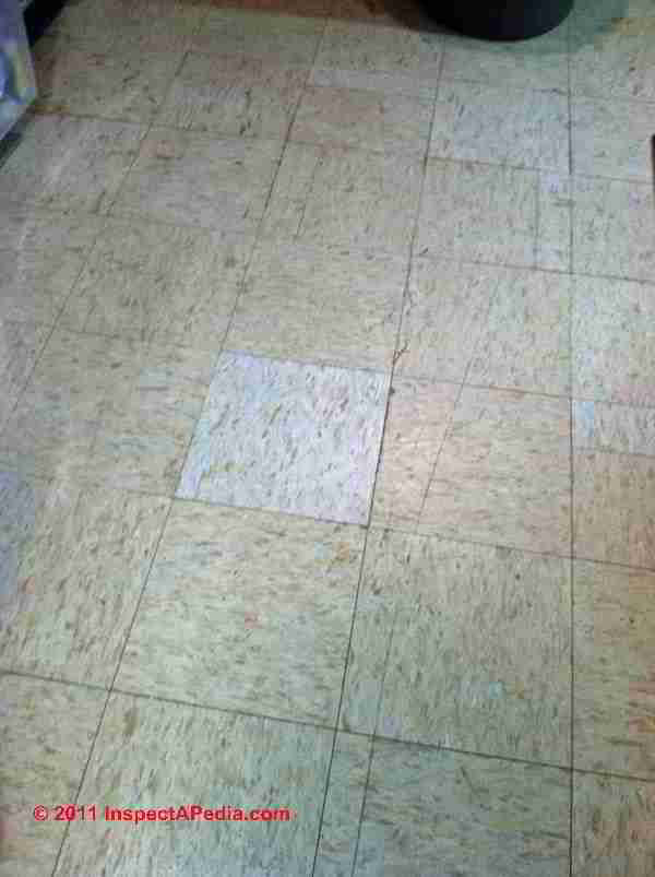 1960s Floor Tiles That May Contain Asbestos