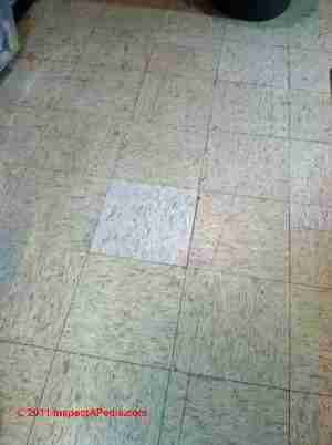 Vinyl asbestos floor tile identification Photos KenFlex Kentile