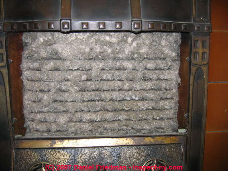 Examples of unusual uses of asbestos insulation material for Fireplace material options
