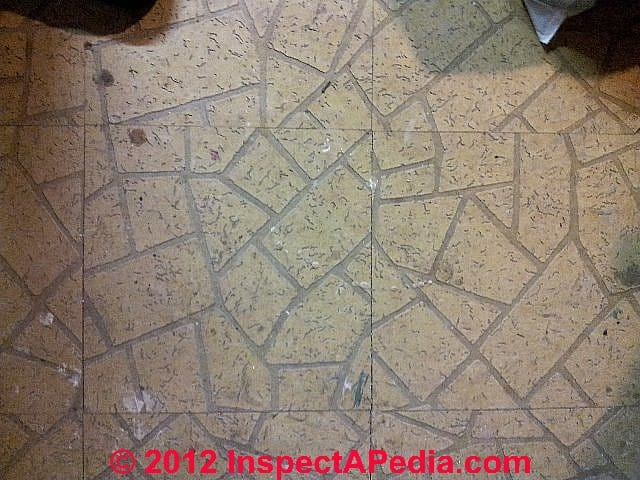 Kentile VAT Flooring From A 1941 Home C InspectApedia J S