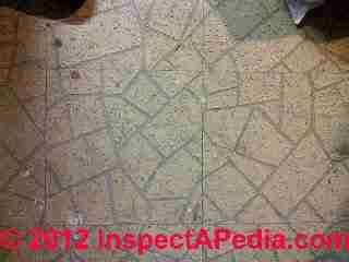 Kentile VAT flooring from a 1941 home (C) InspectApedia & J.S.