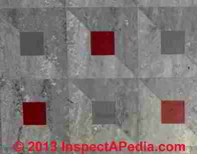 Unidentified flooring may contain asbestos (C) InspectgApedia NC