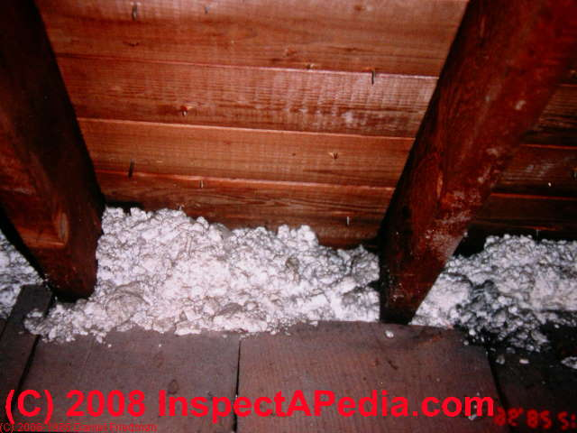 How to identify building insulation insulating material for Blown in mineral wool insulation