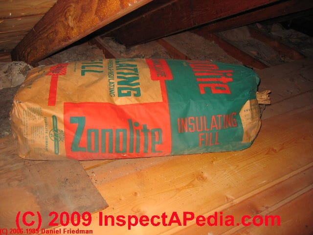 Vermiculite Insulation Still In The Original Bag This Attic Ceiling May Contain Asbestos Fibers