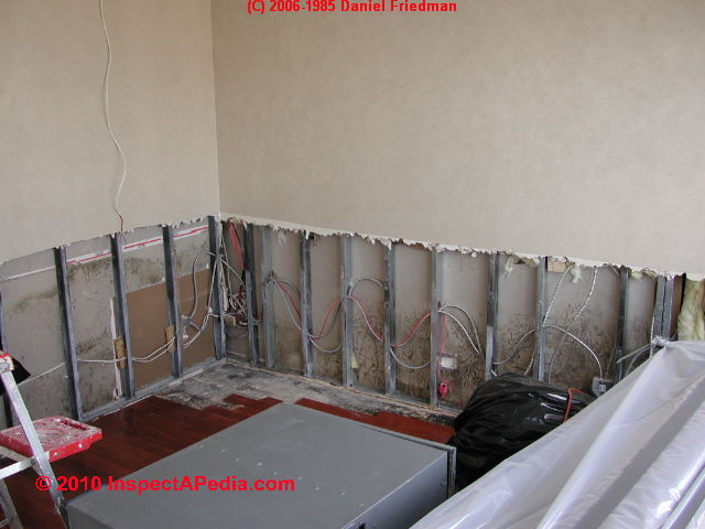 Wet Basement Flooded Building Salvage Cleanout Dry Out - Drywall for basement