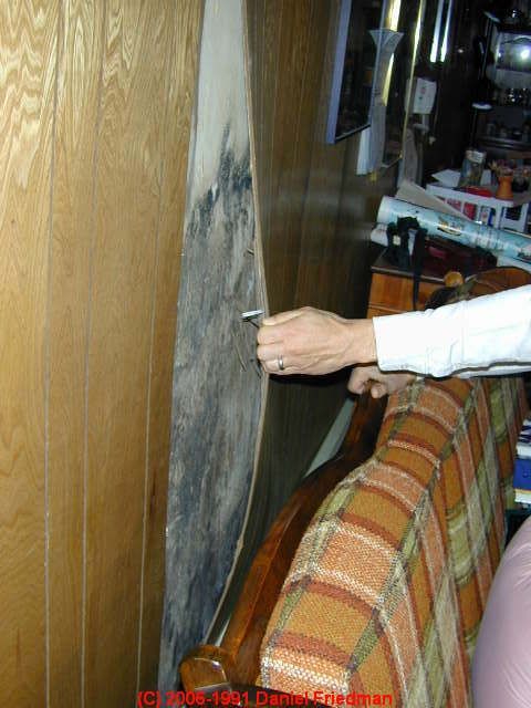 Wet basement flooded building salvage cleanout dry out Ways to update wood paneling