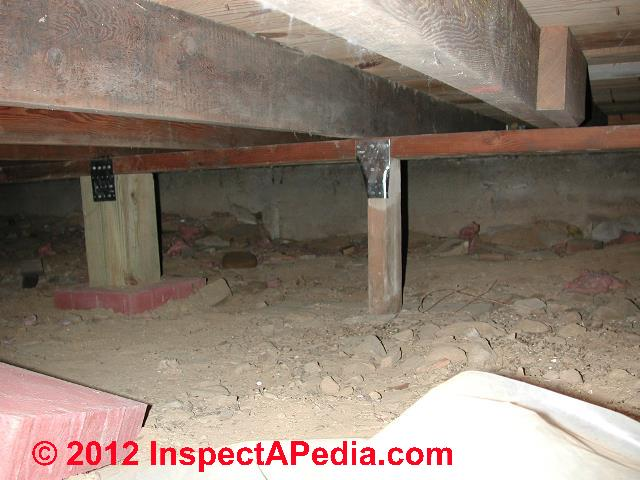 Crawl space access codes standards methods to use when Crawl space flooring