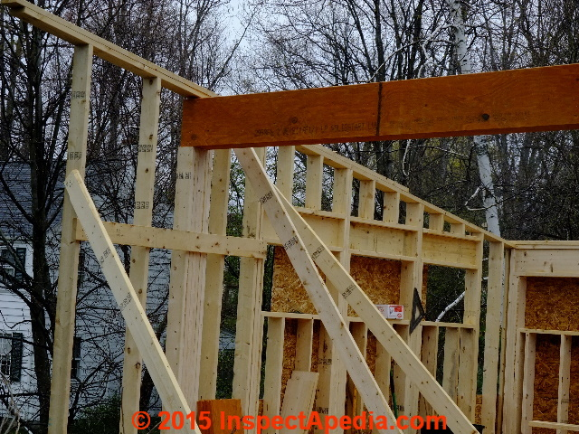 Cantilevered Roof Framing Support Beam Construction