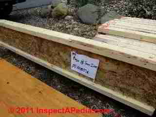 Wood I Joist in preparation for use in floor or roofing (C) Daniel Friedman