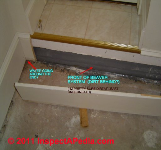 """Damp Basement Finding Leaks And Water Sources: Interior Perimeter Drain Or """"French Drain"""" To Stop Or Prevent Basement Leaks & Water Entry"""
