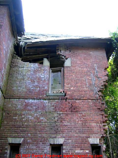 Photograph Of A Collapsing Brick Structure Historic Le In Saugerties Ny