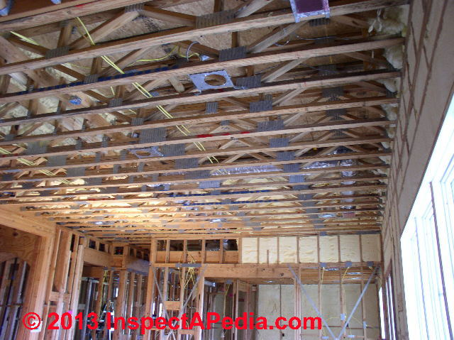 ceiling framing with trusses drywall installation question c inspectapedia jw - Drywall Framing