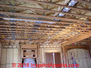 Ceiling framing with trusses - drywall installation question (C) InspectApedia JW