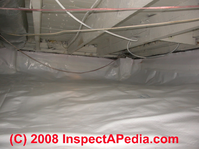 Plastic Moisture Barrier Installed In A Crawl E Following Mold Remediation C Daniel Friedman