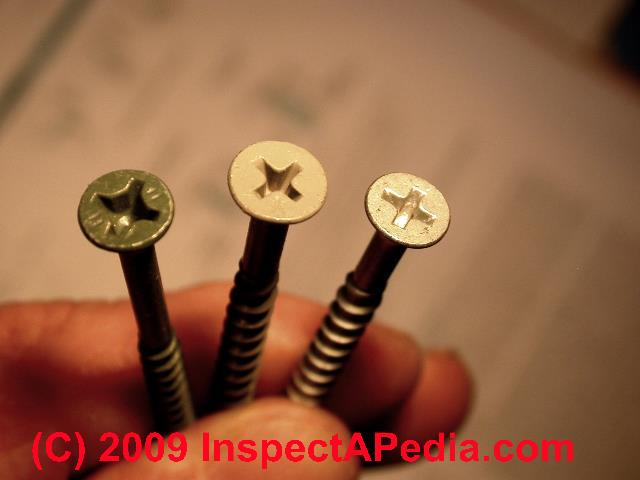 Deck Fasteners Choices Uses Tips
