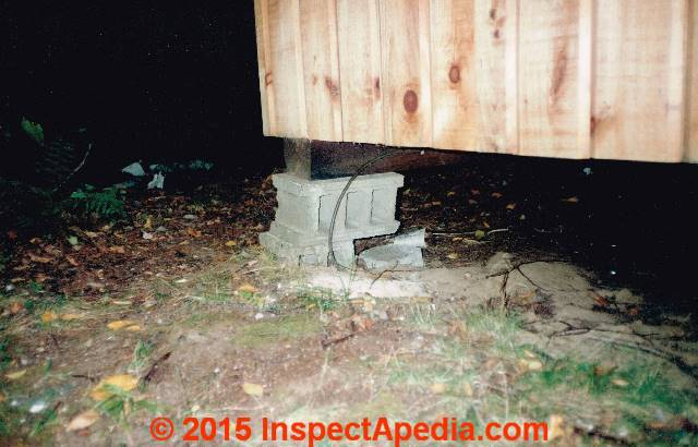 Pier or pile foundations how to detect diagnose evaluate inadequate diy concrete block used as pier c inspectapedia carson dunlop associates solutioingenieria Image collections